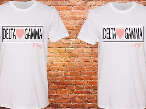 Delta Gamma Big Little Reveal Sorority Shirt