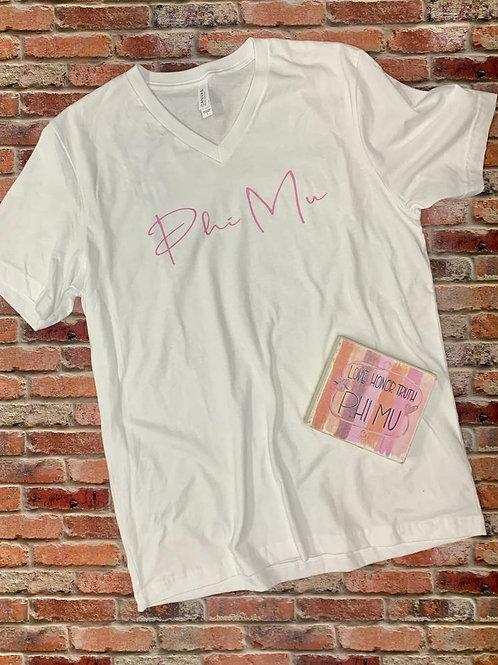 Phi Mu Shirt AND Art Block Gift Set!