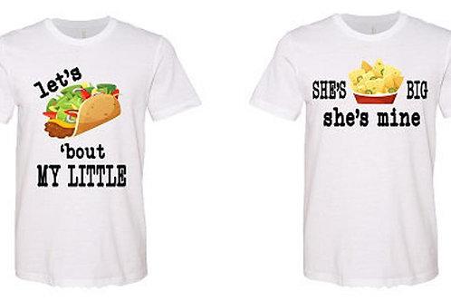 Big Little Sorority Shirts - She's Nacho Big - Let's Taco'bout My Little