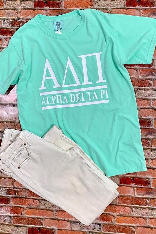 Alpha Delta Pi Sorority Shirt 2 Bar Design