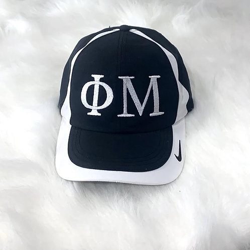Phi Mu Greek Letters Embroidered Nike Hat