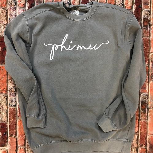 Custom Phi Mu Shorelines Comfort Colors Sweatshirt