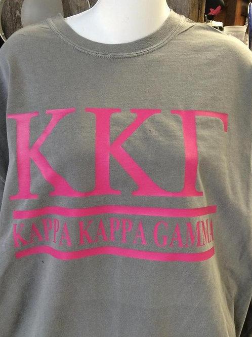 Kappa Kappa Gamma T Shirt - 2 Bar Design