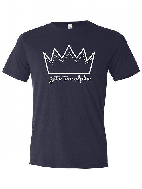 Zeta Tau Alpha Crown Design T-Shirt