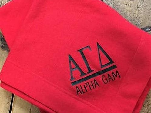 Alpha Gamma Delta Sorority Stadium Blanket