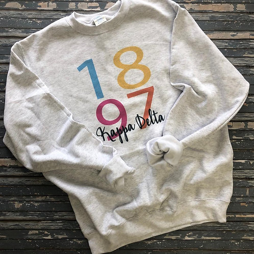 Kappa Delta 1897 Color Block Sweatshirt and Tshirt