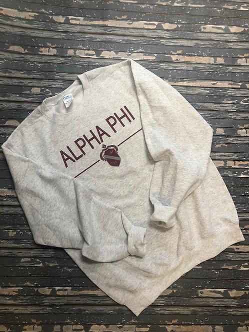 Alpha Phi Classic Crest Sweatshirts and T-shirts