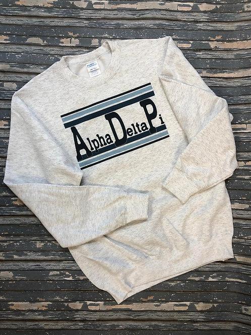 Alpha delta Pi Typoslab Sweatshirt and Tshirts
