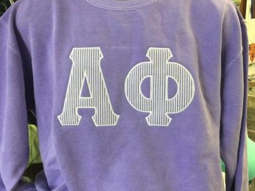 Alpha Phi Raised Letter Sorority Sweatshirt