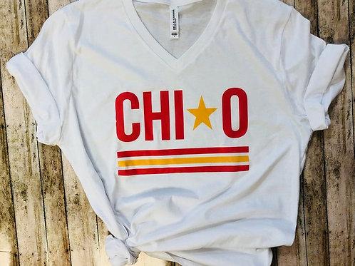 Chi Omega Star and Stripe Tshirts