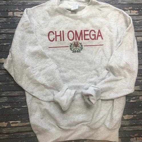 Chi Omega Classic Crest Sweatshirts and T-shirts