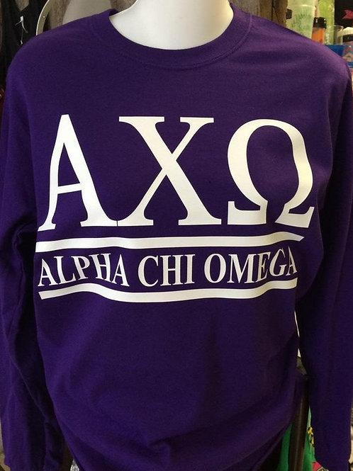 Alpha Chi Omega Sorority Shirt - 2 Bar Design