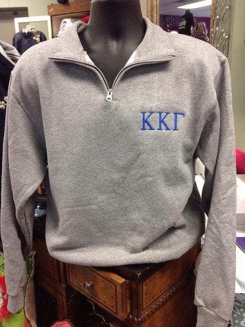 Kappa Kappa Gamma Quarter Zip Sweatshirt