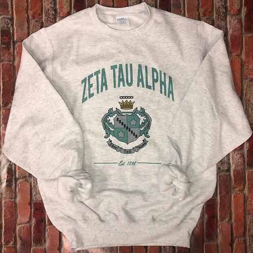 Zeta Tau Alpha Crest Sweatshirts and Tshirts