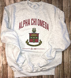 Alpha Chi Omega Crest Sweatshirt