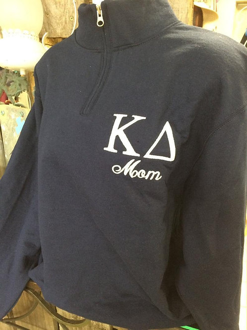 Custom Kappa Delta Mom Quarter Zip Sweatshirts