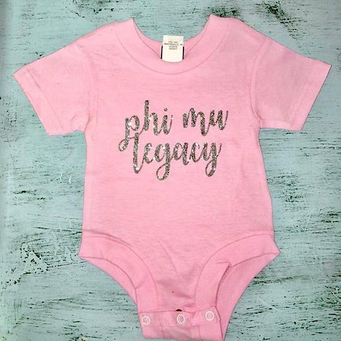 Phi Mu Legacy Baby Bodysuit