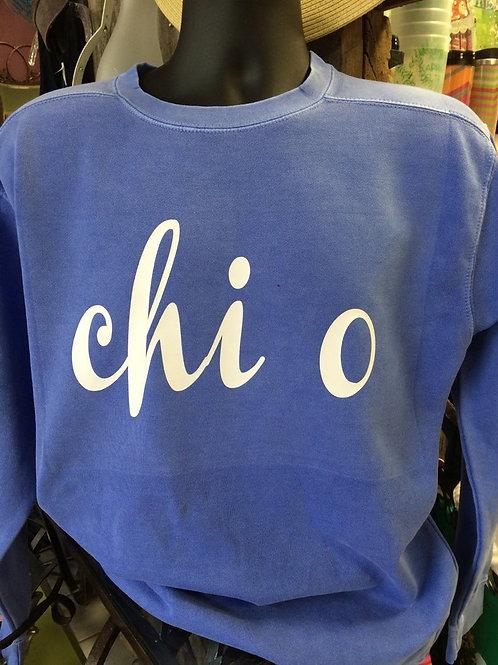 Chi Omega Chanel Comfort Colors Sweatshirt