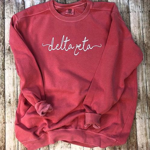 Custom Delta Zeta Shorelines Comfort Colors Sweatshirt