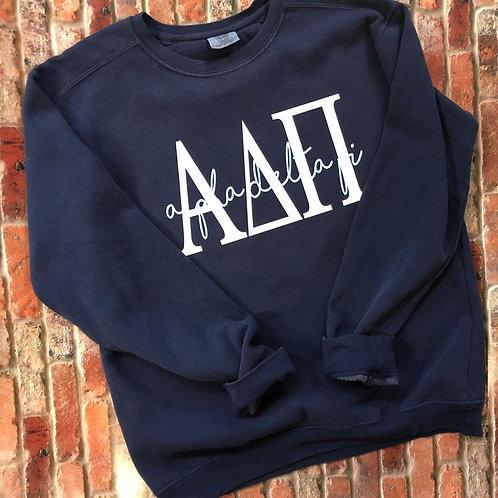 Alpha Delta Pi Navy Sweatshirts and Tshirts