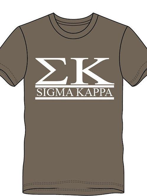 Sigma Kappa Two Bar Collegiate Design