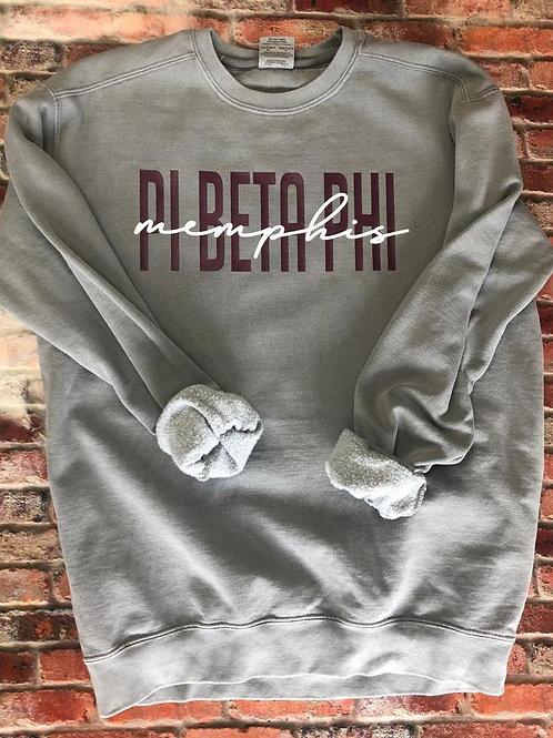 Custom Pi Beta Phi Comfort Colors Sweatshirt