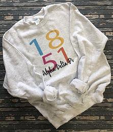 Alpha Delta Pi 1851 Color Block Sweatshirt and Tshirt