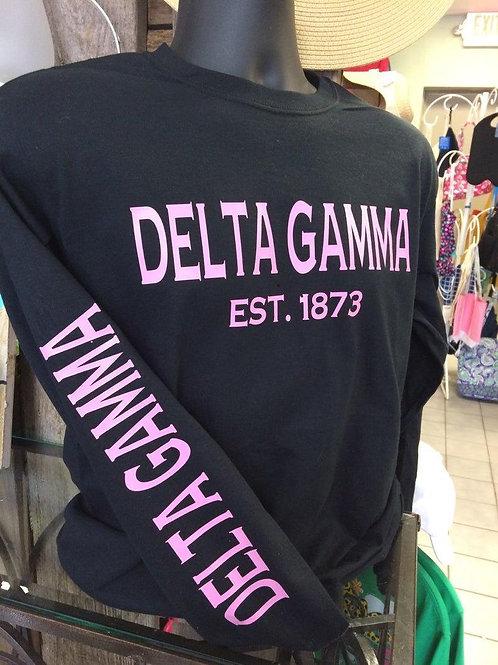 Delta Gamma Established Sleeve Gildan Tshirt