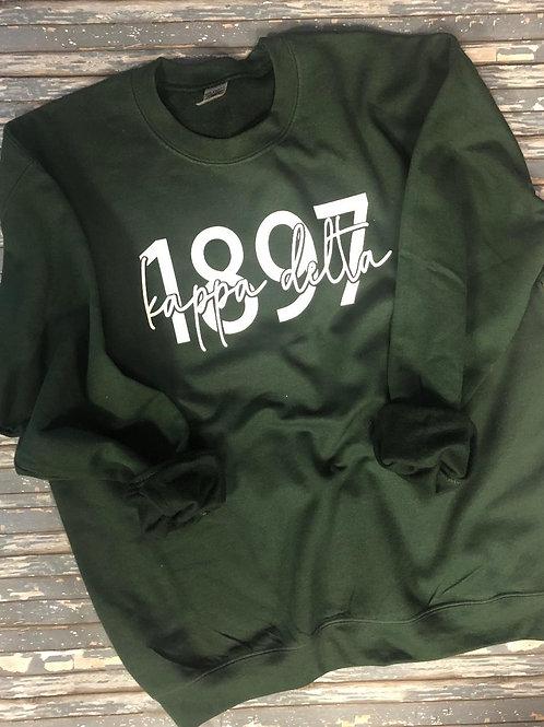 Kappa Delta Established Date Sweatshirt