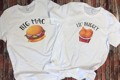 Big Little Shirt - Big Mac Little Nugget Full Front Design