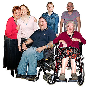 people with learning difficulties or disabilites with carer