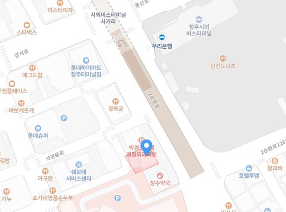 청주 강서동 드보떼스웨디시 위치