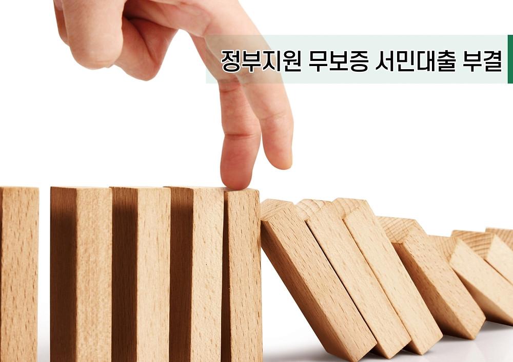 정부지원 무보증 서민대출 부결