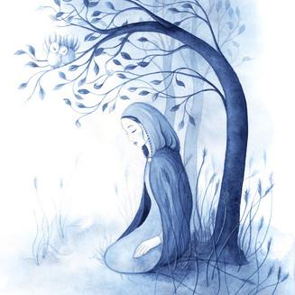 Jorinde unter dem Baum