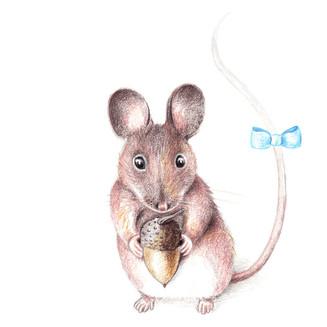 Maus mit Schleife