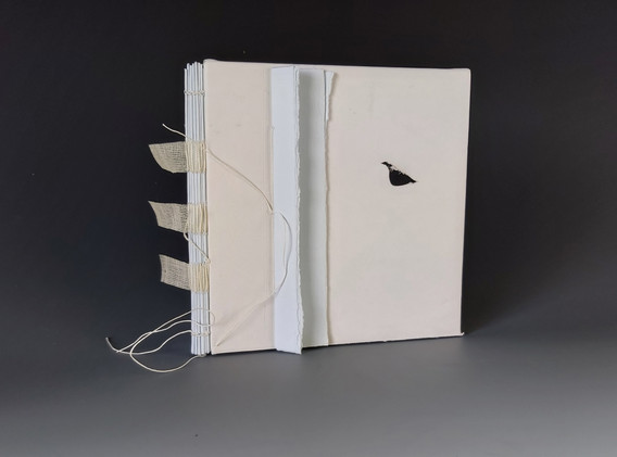 Book object with sewn sections