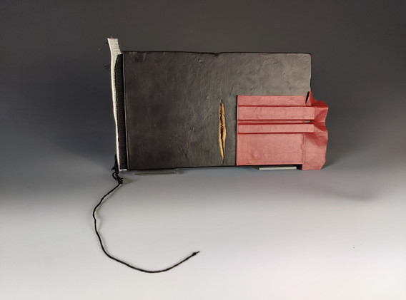 Book object with red
