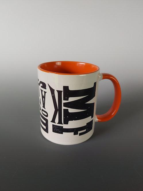 Orange Letterpress Mug