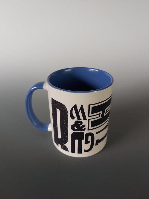 Blue Letterpress Mug