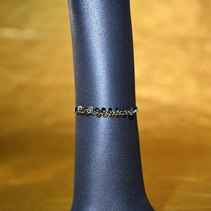 Bracelet vert métallique