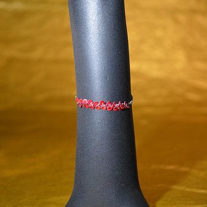 Bracelet rose et rouge