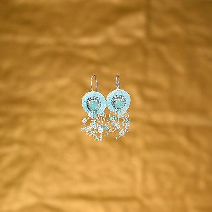 Boucles d'oreille Bleu Austral
