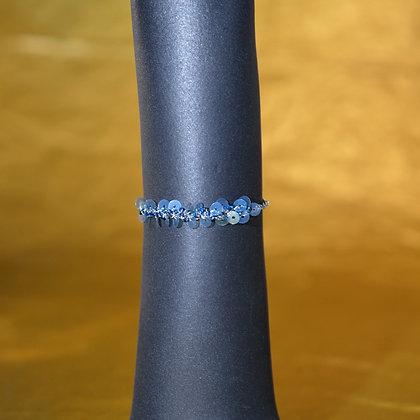Bracelet bleuté