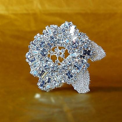 Application fleur en strass cristal