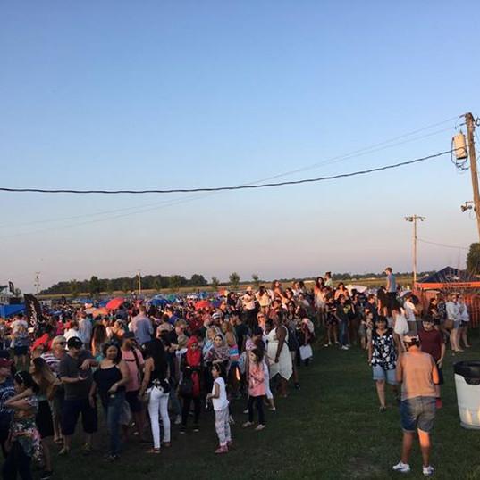 At the Shine Festival at Jasper County F