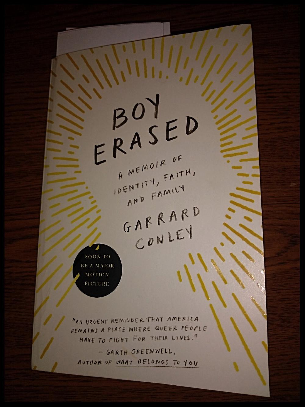 My copy of Boy Erased.