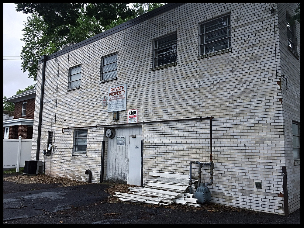The back of Hillcrest - the now-closed abortion clinic on Front Street in Harrisburg.