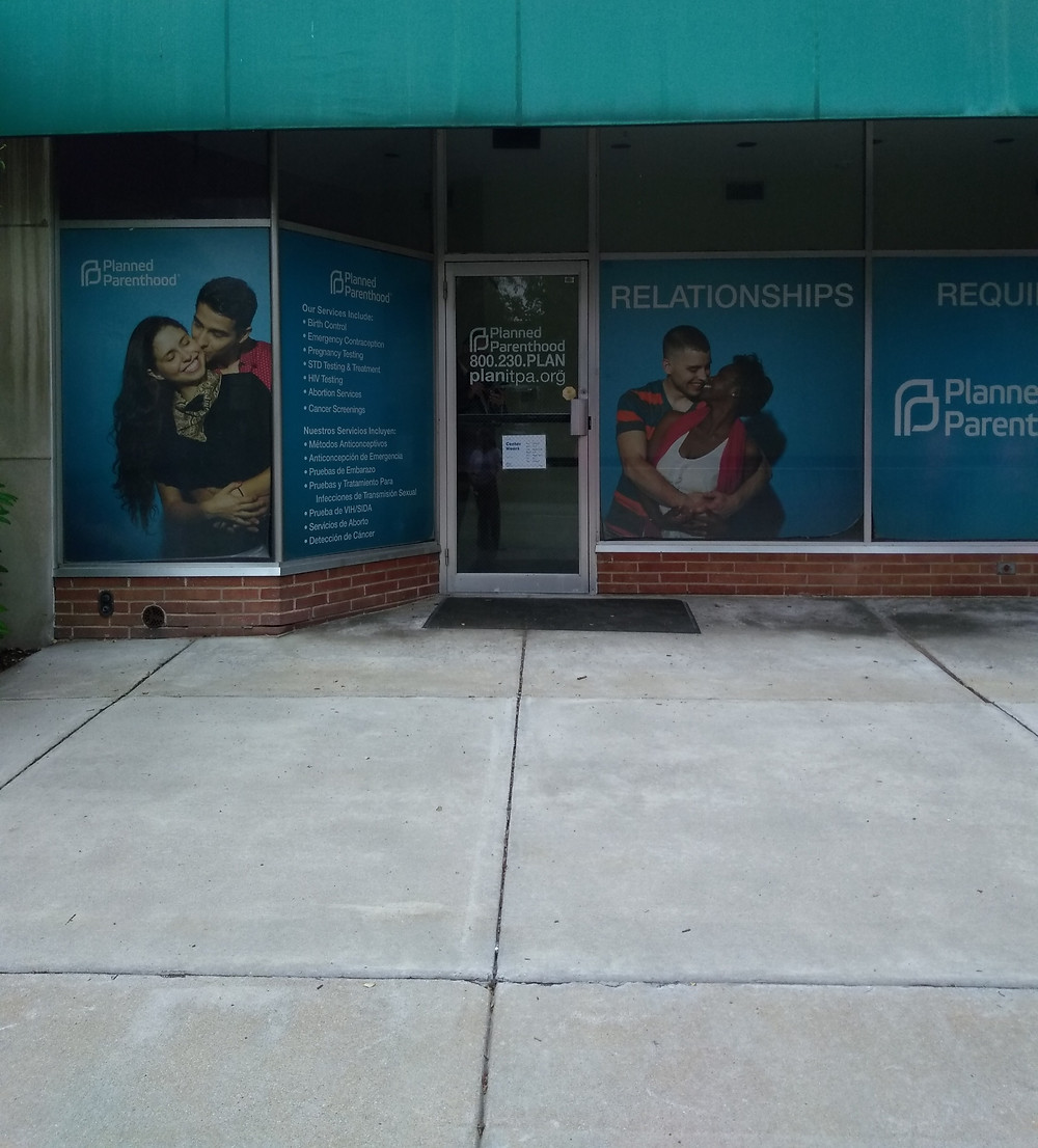 The front of Planned Parenthood in Harrisburg.