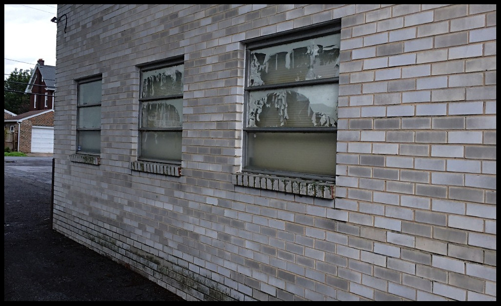 The windows at Hillcrest - now closed.