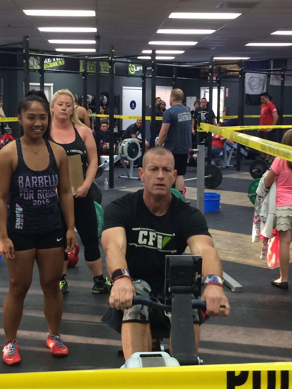 Coach Charles O. on the Rower - CFIV
